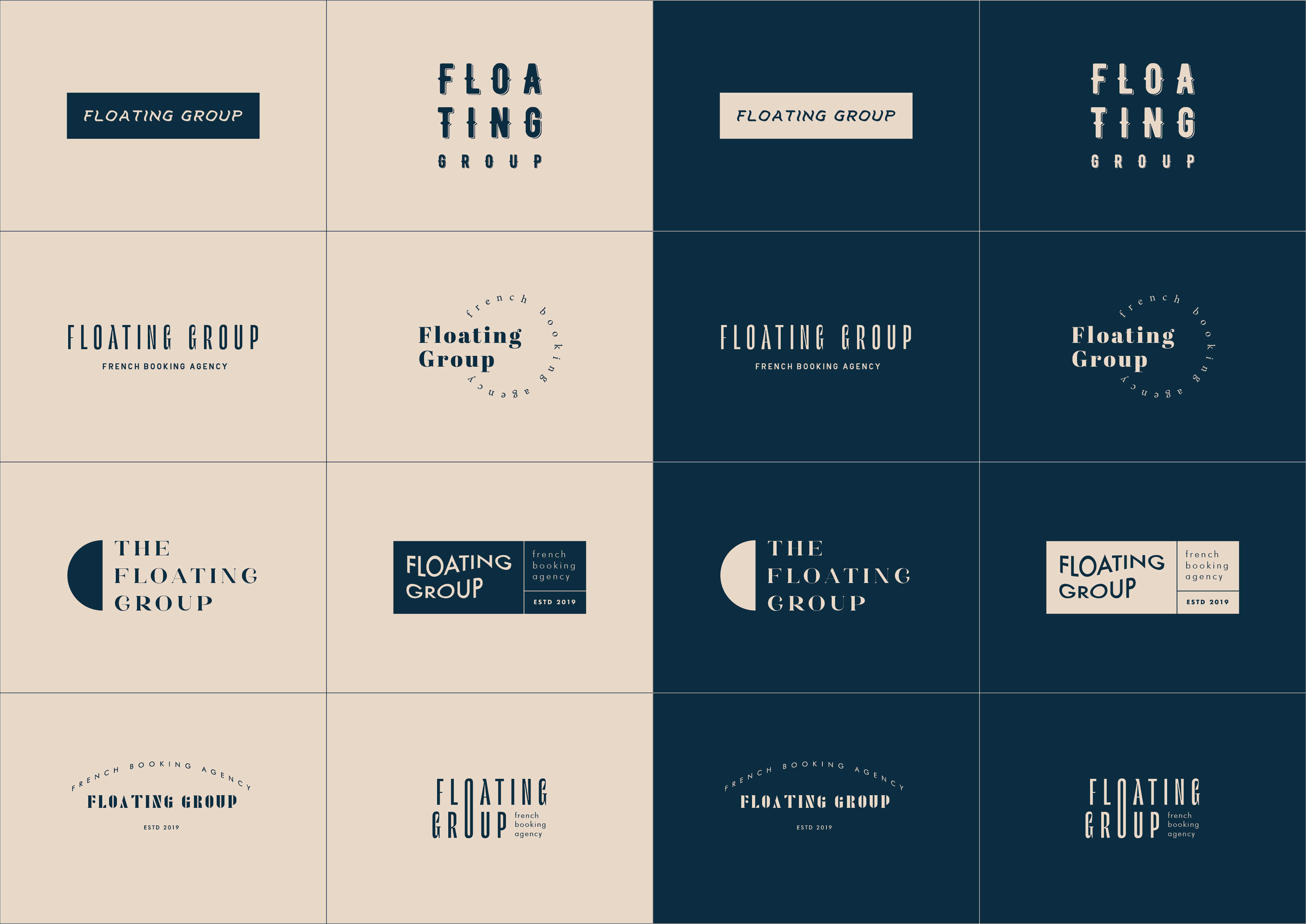 Logo floating group – Planche